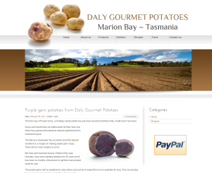 Daly Gourmet Potatoes - Marion Bay - Tasmania Daly Gourmet Potatoes