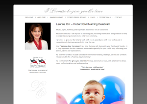 Leanne Orr Hobart Baby and Children Naming Celebrant