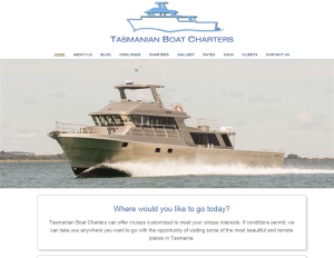 TASMANIAN BOAT CHARTERS – where would you like to go today..