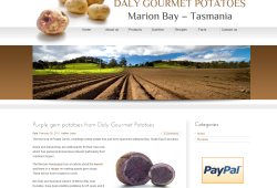New website for Daly Gourmet Potatoes