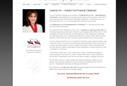 New website for Hobart Funeral Celebrant – Leanne Orr