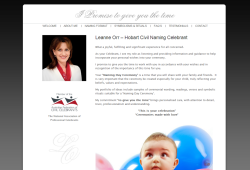 New website for Hobart Civil Naming Celebrant – Leanne Orr