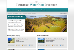 New website for Tasmanian Waterfront Properties