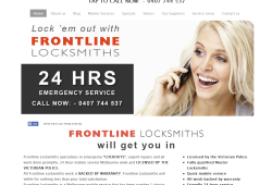 New Website for Frontline Locksmiths